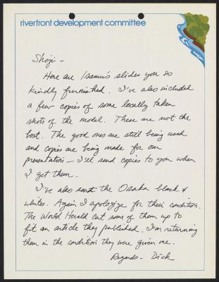 Letter to Shoji Sadao from Richard Martin