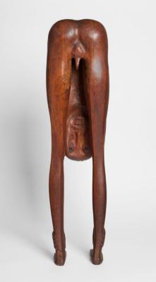 Boy Looking through Legs