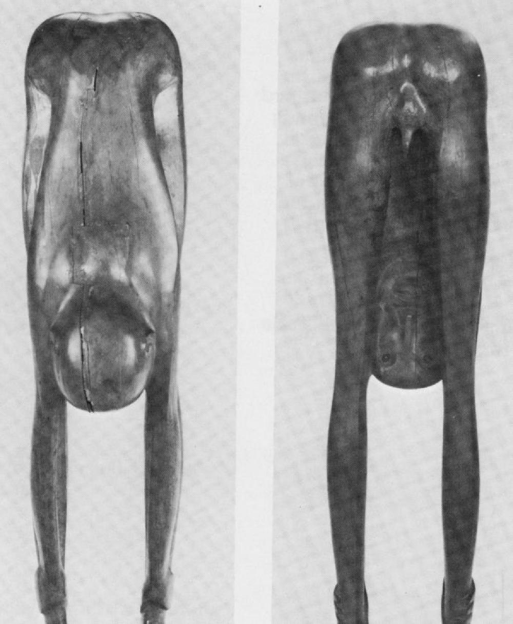 Boy Looking through Legs, image 2