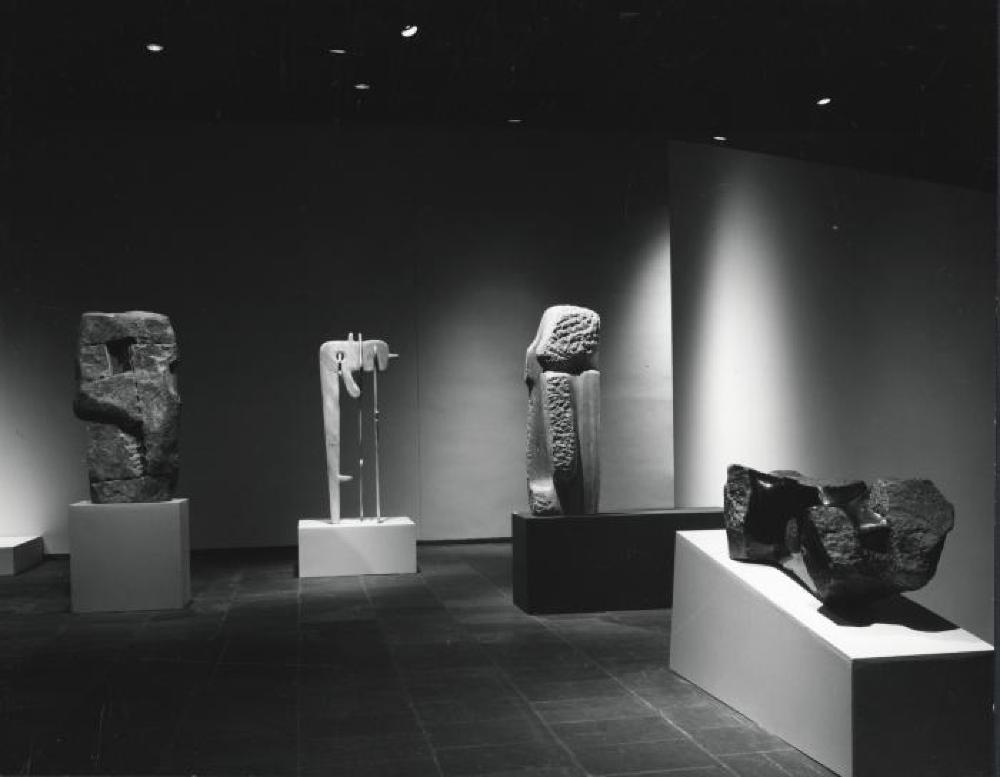 "Exhibition photograph: ""Isamu Noguchi,"" Whitney Museum of American Art, New York (April 17 - June 16, 1968)"