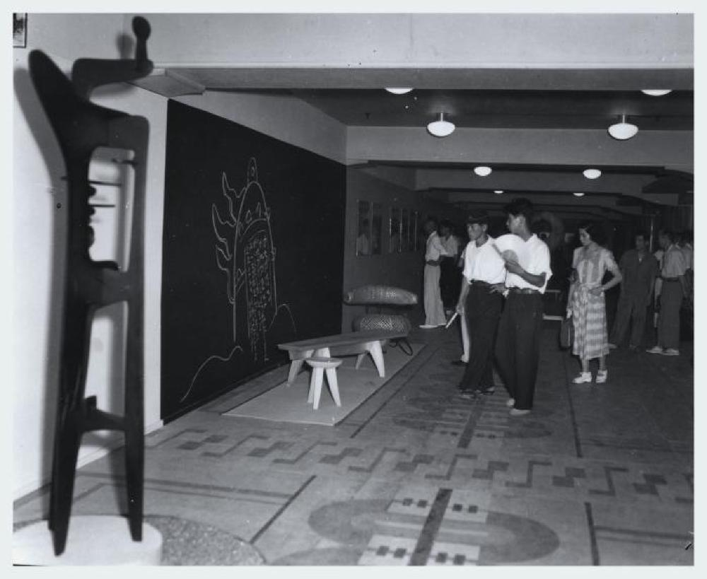 "Exhibition photograph: ""Isamu Noguchi,"" Mitsukoshi Department Store (August 18 - 27, 1950)"