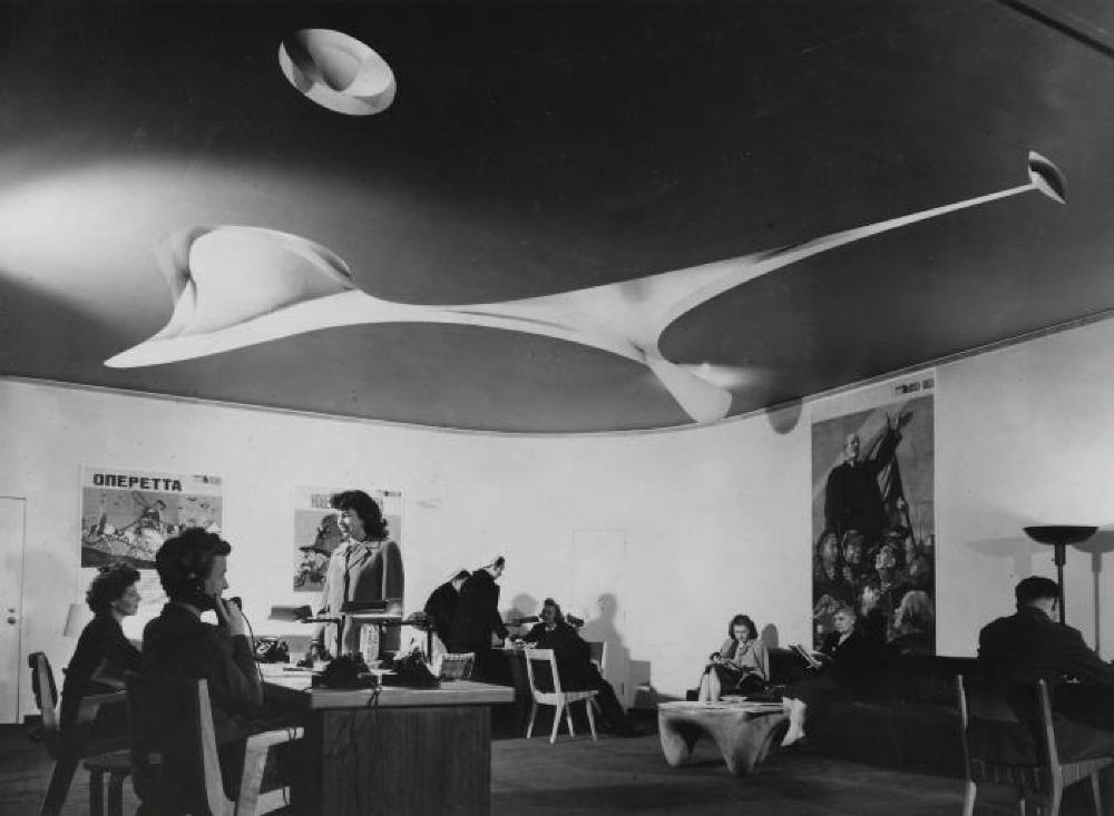 Interior for Time & Life Building Waiting Room and Reception Area, 1 Rockefeller Plaza, New York (CR 268)