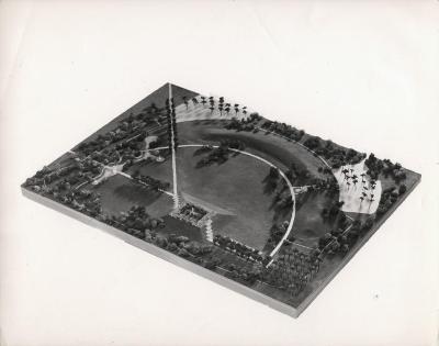 Park for Gandhi's Burial Place at Raj-gat
