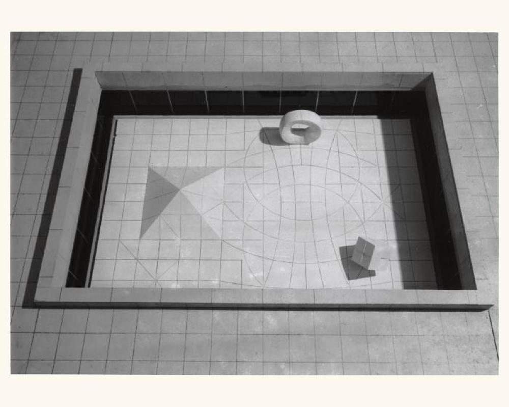 Model for Sunken Garden for Beinecke Rare Book and Manuscript Library, image 2