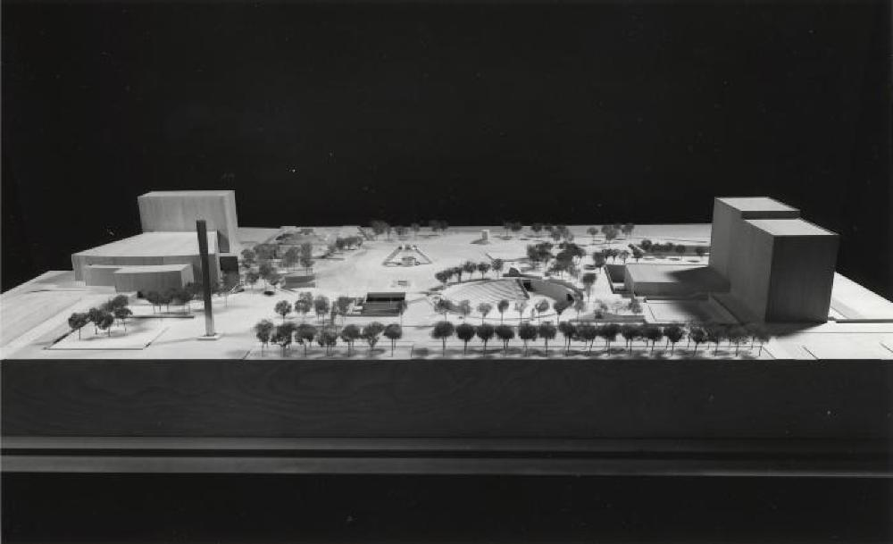 Model for Philip A. Hart Plaza, Detroit, Michigan, image 1