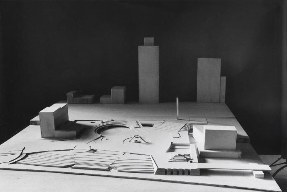 Model for Philip A. Hart Plaza, Detroit, Michigan, image 3