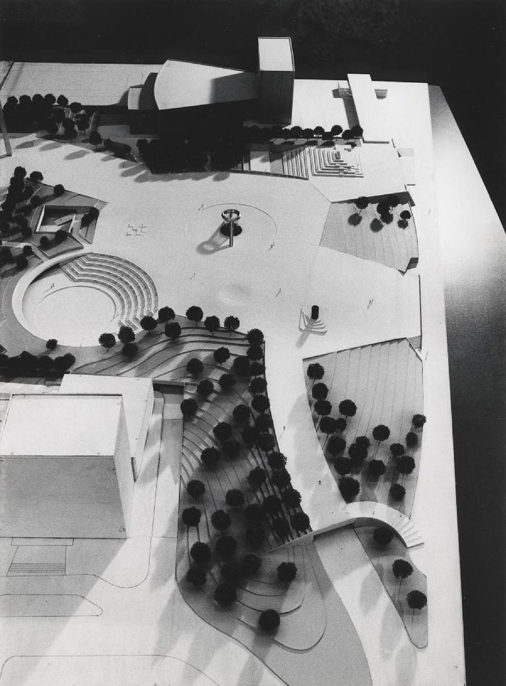 Model for Philip A. Hart Plaza, Detroit, Michigan, image 2