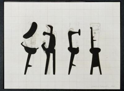 "Worksheet for Sculpture ""Strange Bird"""