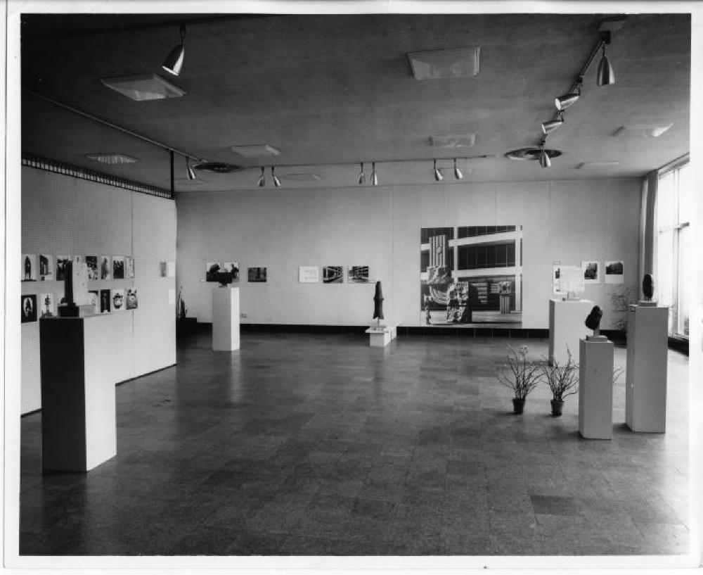 "Exhibition photograph: ""Noguchi: An Exhibition of Sculpture,"" Fort Worth Art Center, Fort Worth, TX (May - July 1961) - Photograph: Lee Angle"