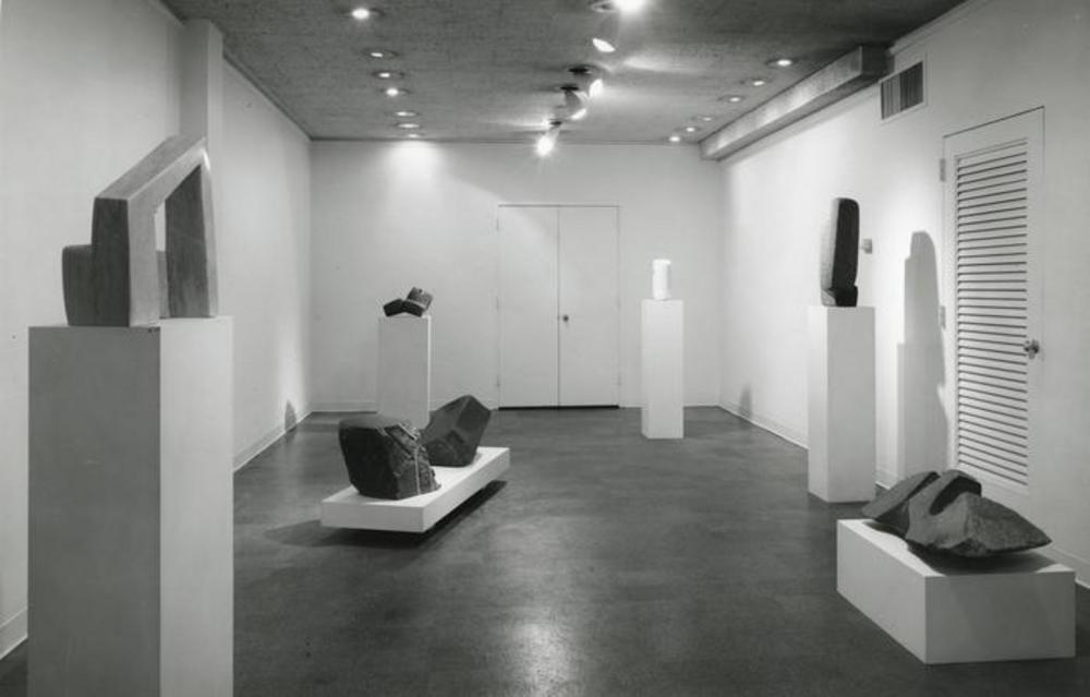 "Exhibition photograph: "" Isamu Noguchi,"" Cordier & Ekstrom Gallery, New York (April 4 - April 29, 1967) - Photograph: Geoffrey Clements"