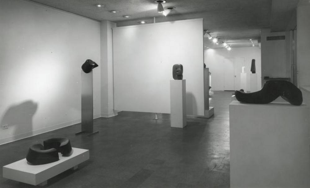 "Exhibition photograph: ""Isamu Noguchi,"" Cordier & Ekstrom Gallery, New York (April 4 - April 29, 1967) - Photograph: Geoffrey Clements"