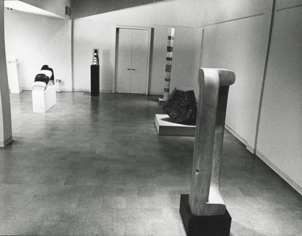 "Exhibition photograph: ""Isamu Noguchi,"" Cordier & Ekstrom Gallery, New York (November 4 - November 28, 1970) - Photograph: Arnold Eagle"
