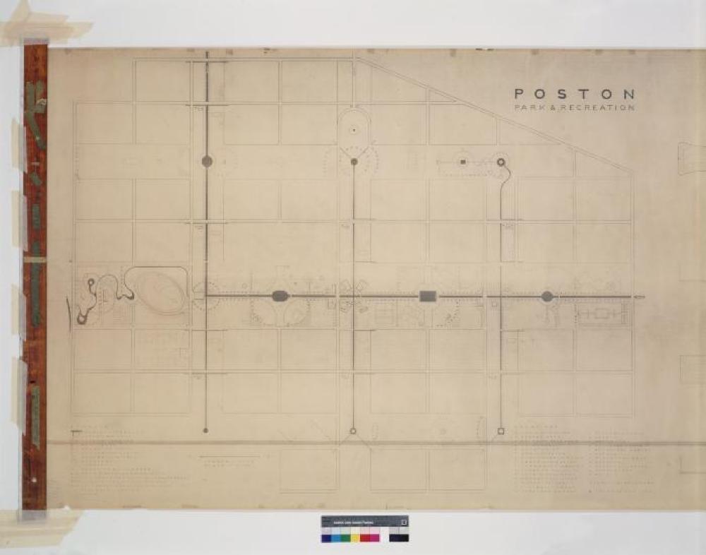 Park and Recreation Areas at Poston, AZ.  Blueprint