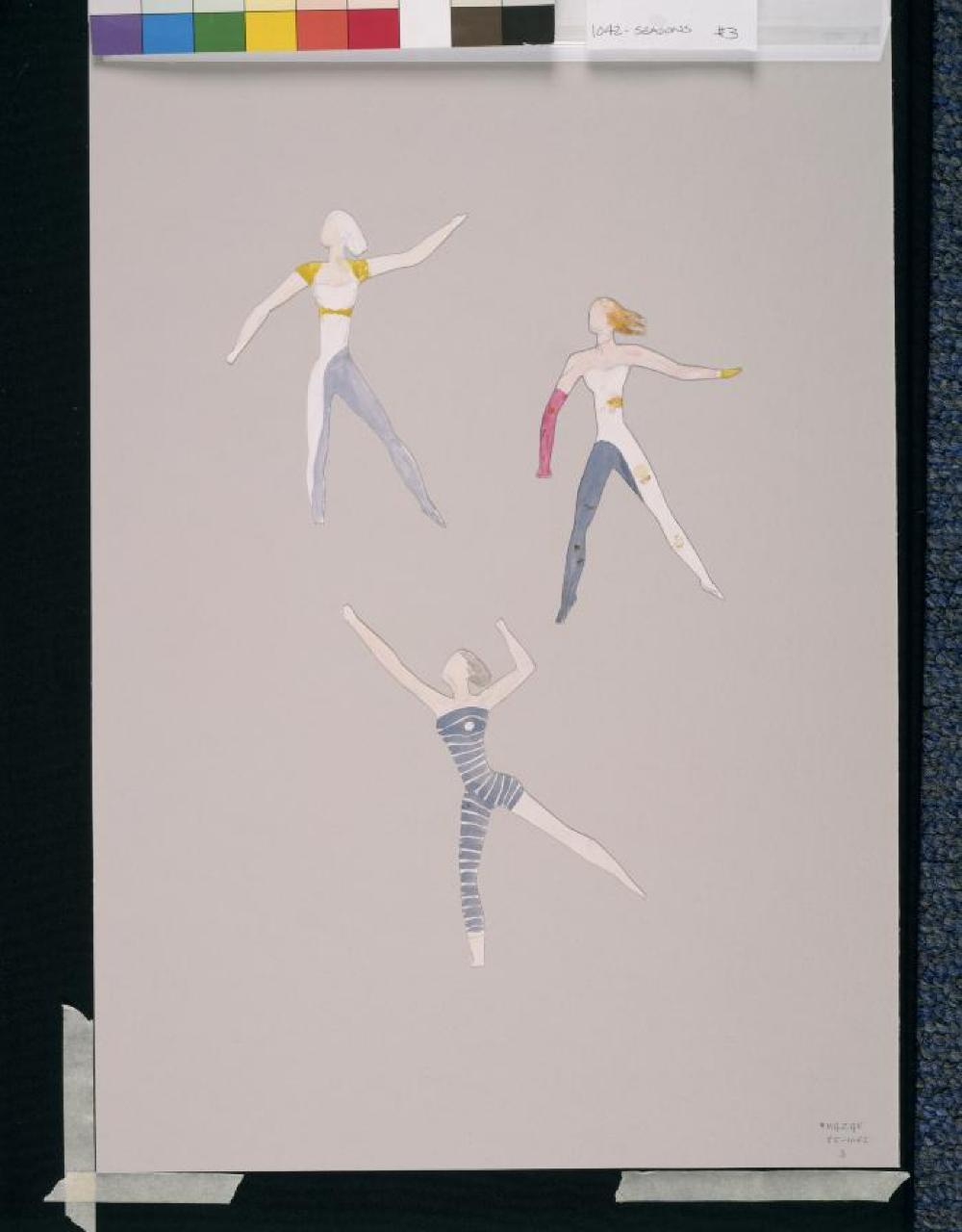 The Seasons: Costume study (3 female figures)