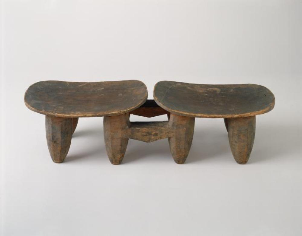 Senufo (Côte d'Ivoire); Bench with Two Seats; Wood; 7 7/8 x 28 1/4 x 7 7/8 in.; Collection of Isamu Noguchi. (Study Collection; Collectibles, C-Apt-34)