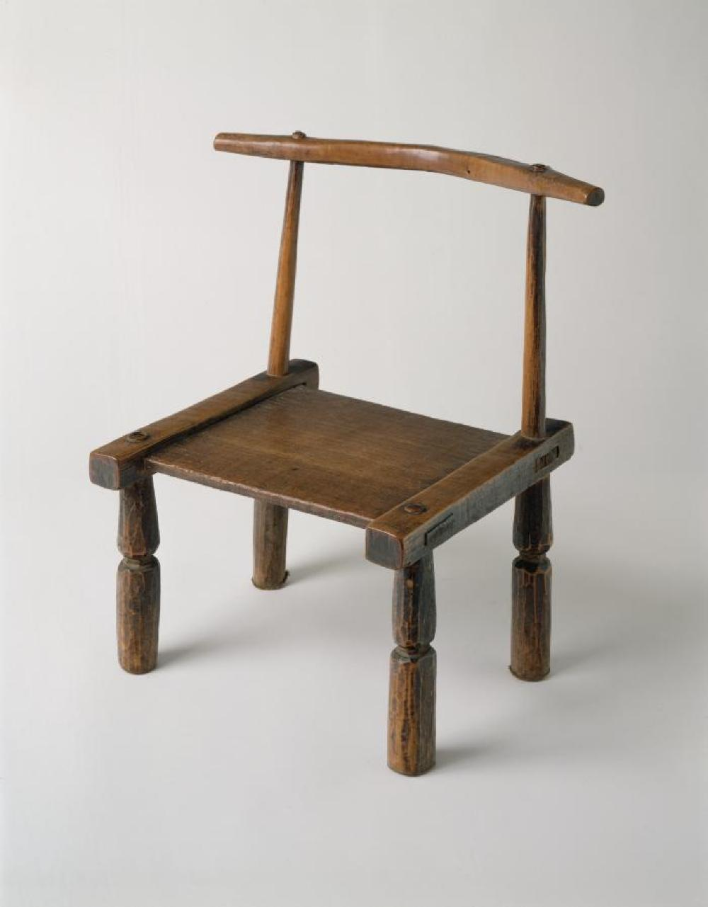 Senufo (Côte d'Ivoire); Chair ; Wood; 21 3/8 x 15 x 14 3/8 in.; Collection of Isamu Noguchi. (Study Collection; Collectibles, C-Apt-33)
