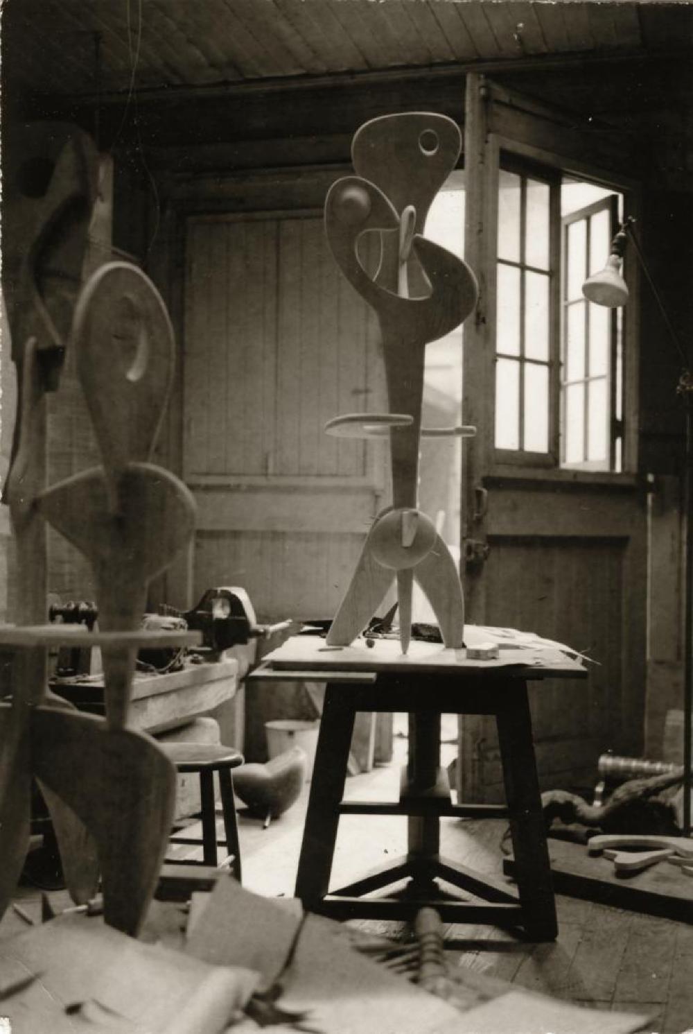 Work in progress, Structure, in Isamu Noguchi's MacDougal Alley Studio