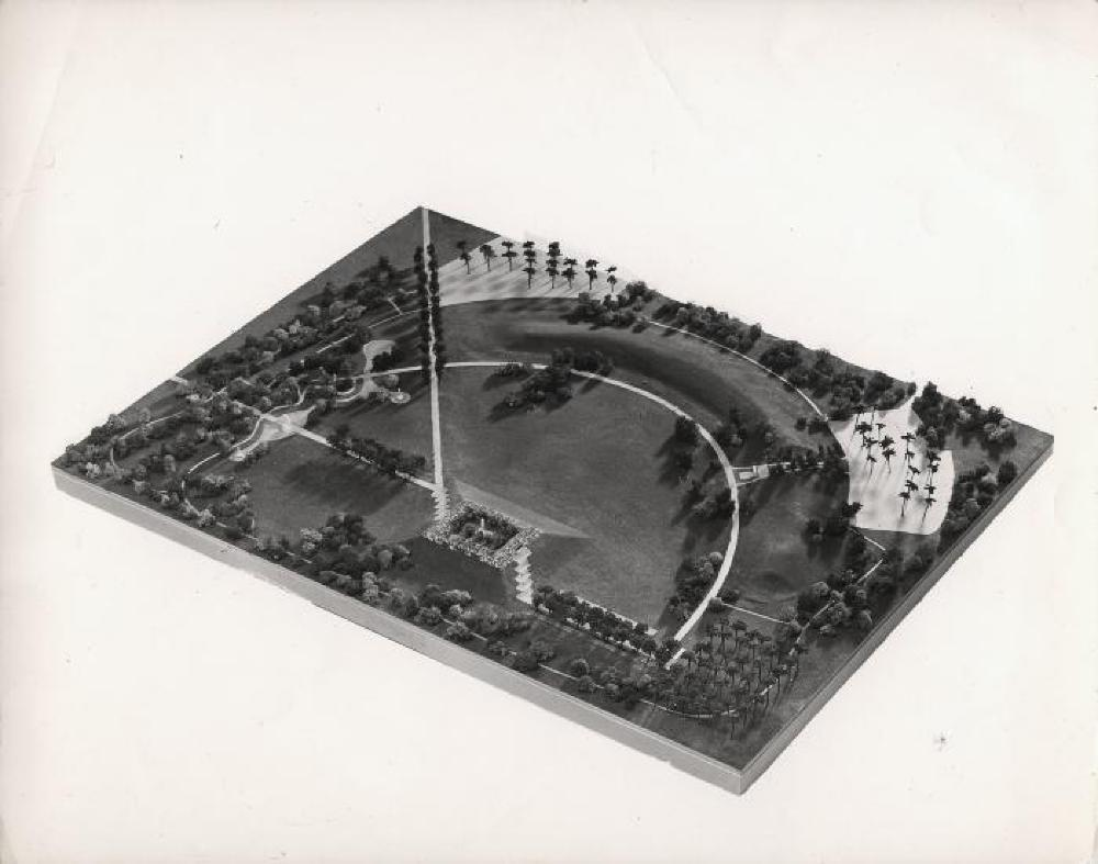 Park for Gandhi's Burial Place at Raj Ghat