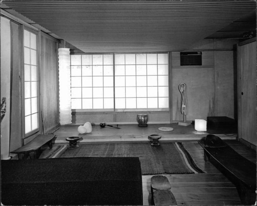 Upper floor living area of Isamu Noguchi's 10th Street Studio