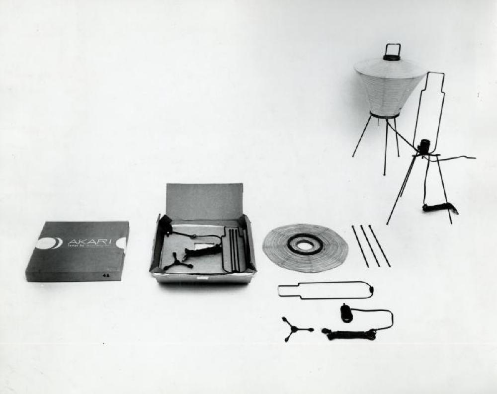 Akari Lamp 5A with its box and elements