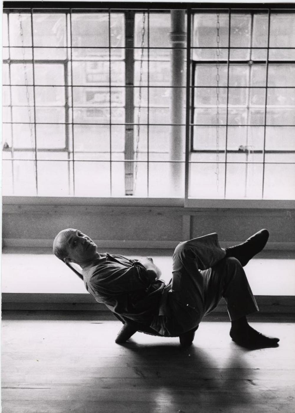 Portrait of Isamu Noguchi in Lobi Chair