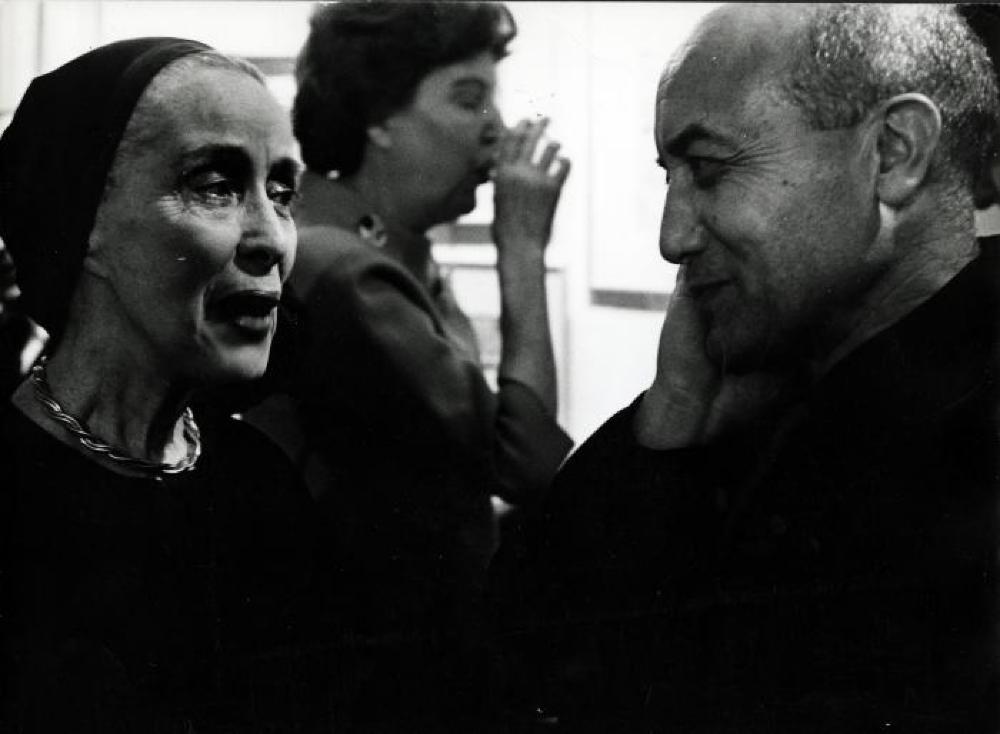 Isamu Noguchi at Sculptor's World Book Signing with Martha Graham