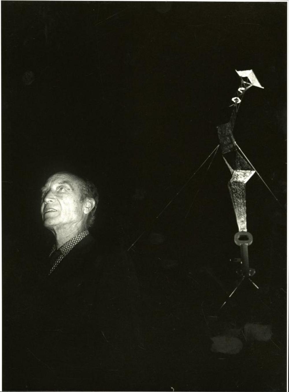 Isamu Noguchi with Bolt of Lightening/Memorial to Ben Franklin