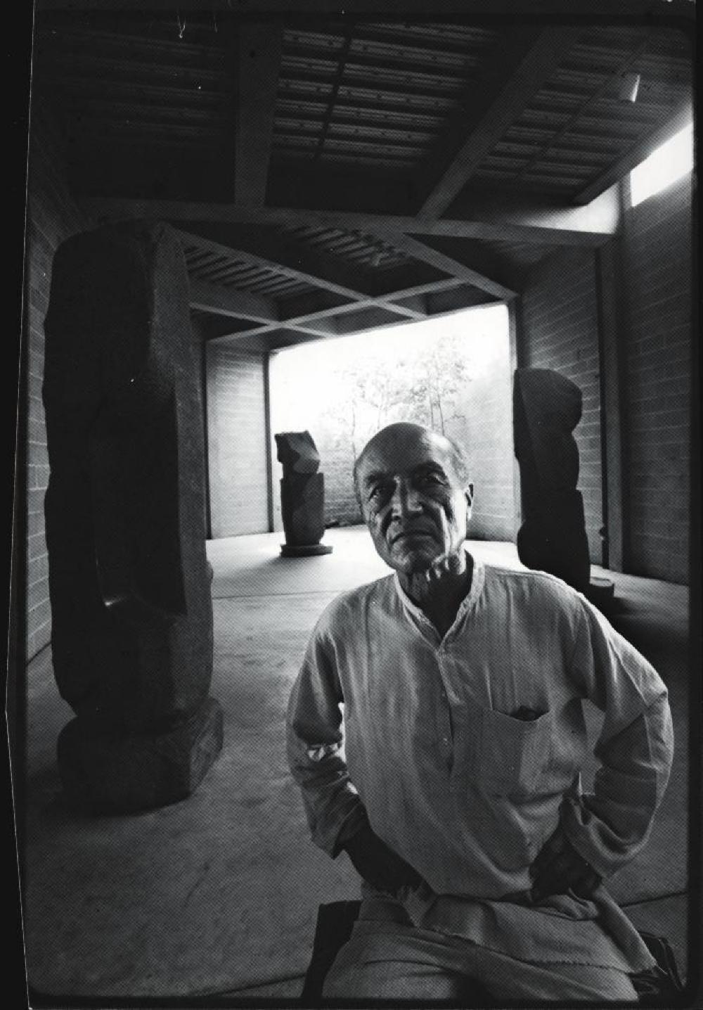 Portrait of Isamu Noguchi in the Isamu Noguchi Garden Museum