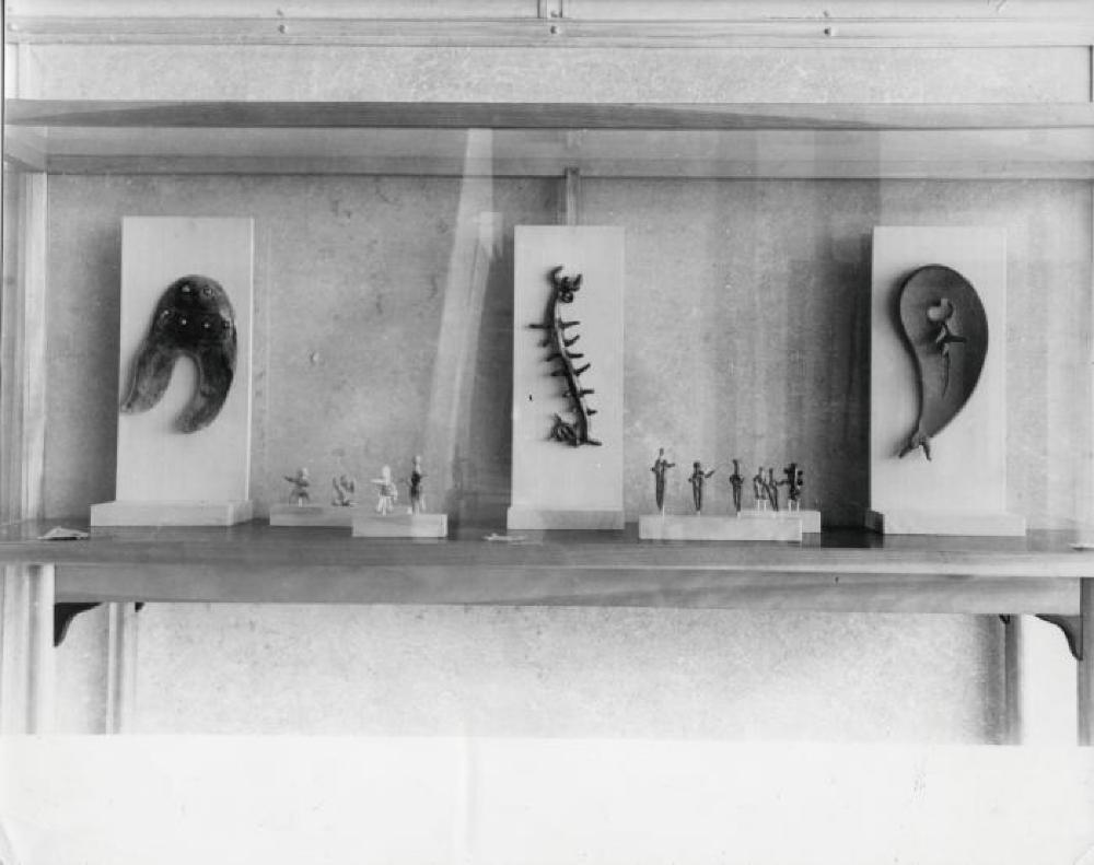 """Isamu Noguchi Exhibition,"" Museum of Modern Art, Kamakura, September 23, 1952 - October 19, 1952."