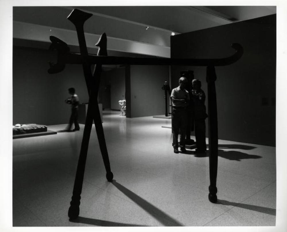 """Three Sculptors: Noguchi, Oldenburg, Segal,"" Walker Art Center, July 12, 1980 - September 1, 1980."