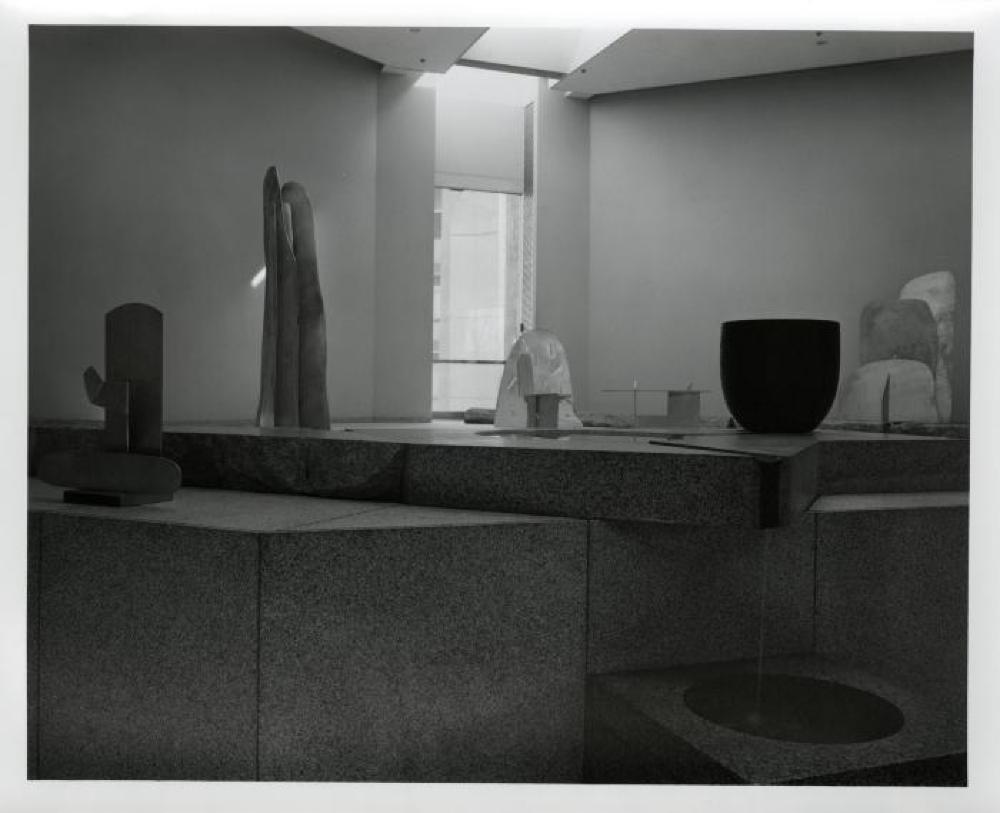 """Isamu Noguchi: Steel Sculptures,"" Sogetsu Plaza (April, 1984)."