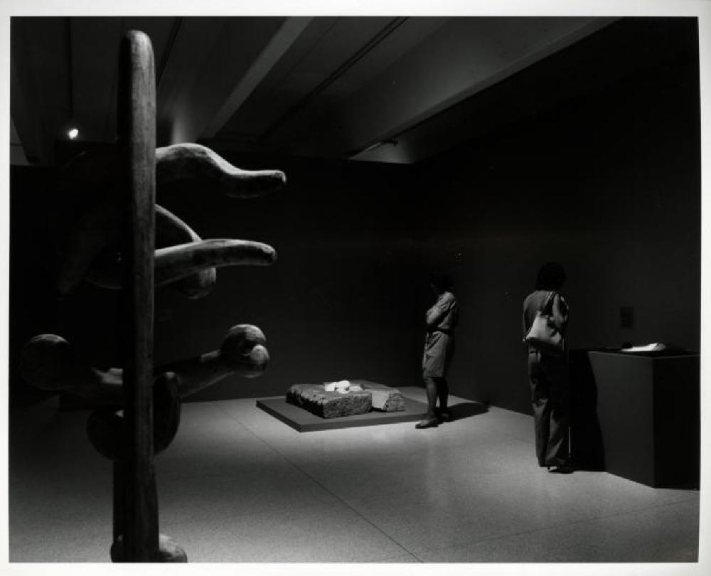 """Three Sculptors: Noguchi, Oldenburg, Segal,"" Walker Art Center, July 12, 1980 - September 1, 1980."