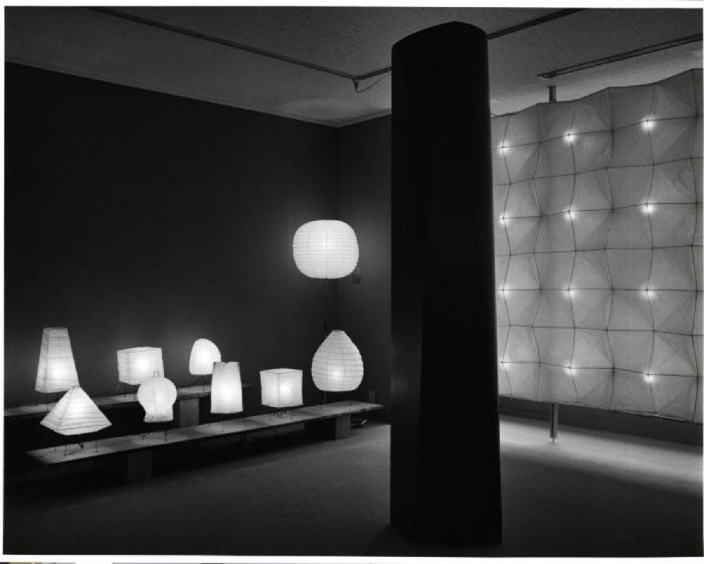 """""""Isamu Noguchi: Light Sculptures,"""" Gallery Kasahara, April 1989."""