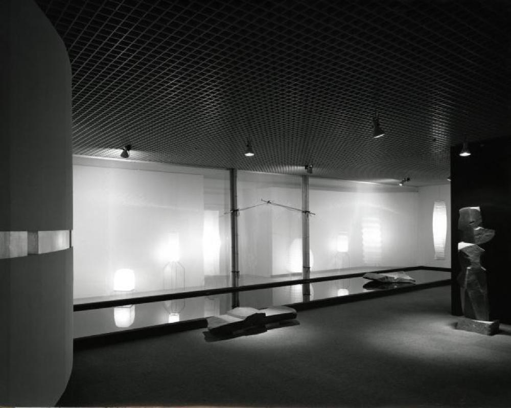 "Yurakucho Art Forum""Space of Akari & Stone,"" Seibu Museum of Art, February 9, 1985 - February 20, 1985."