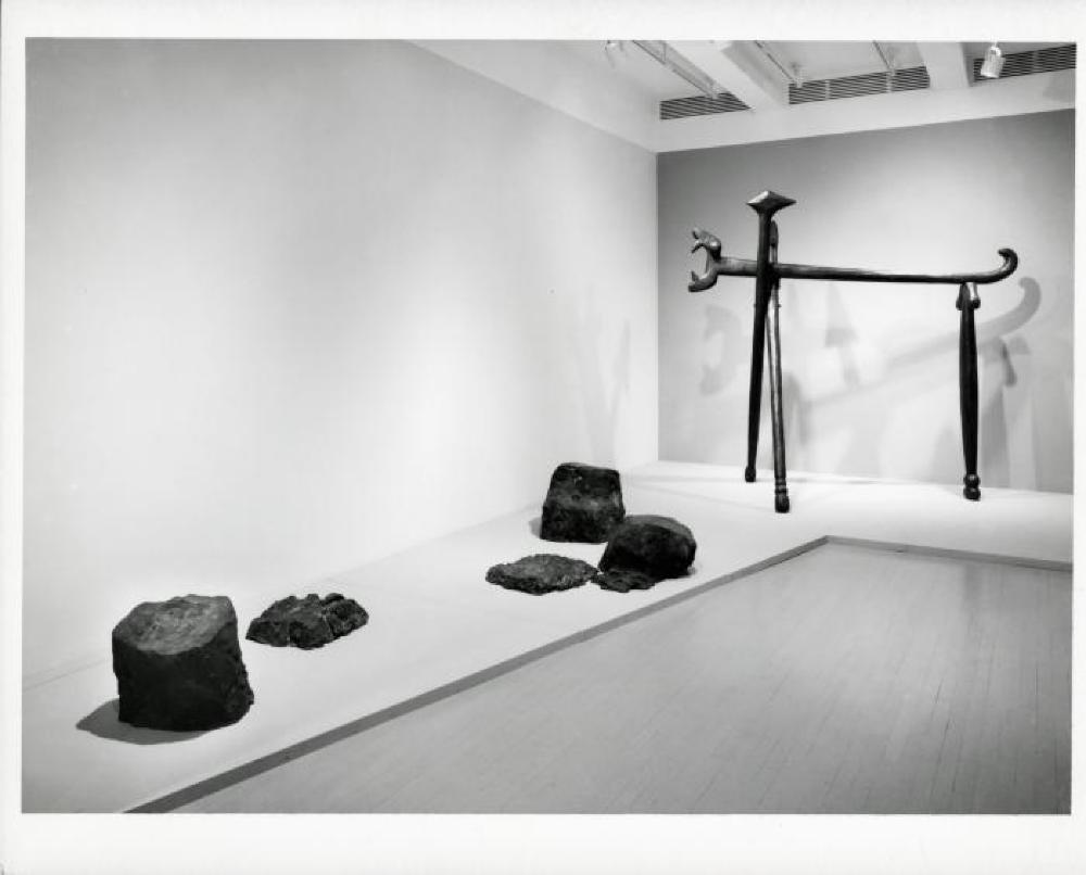 """Isamu Noguchi - Bronze & Iron Sculpture,"" Pace Gallery, May 13, 1988 - June 11, 1988."
