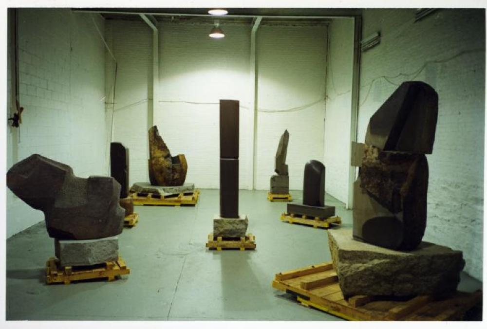 """Relocated,"" The Noguchi Museum, April 10, 2001 - October 31, 2001."