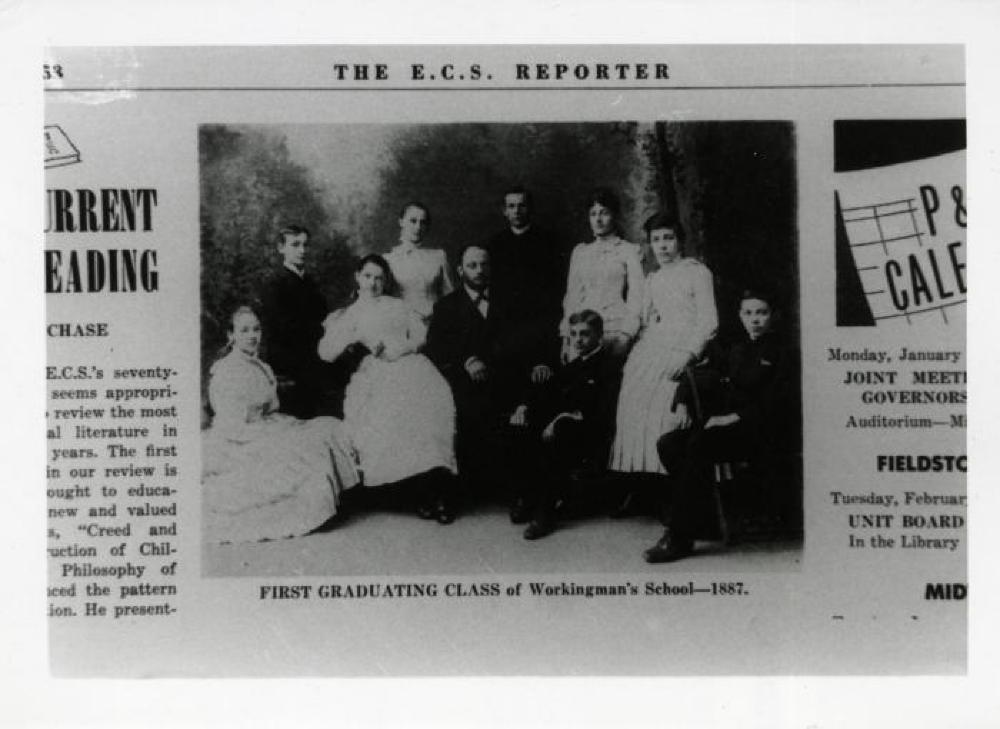 Leonie Gilmour in the first graduating class of the Workingman's School