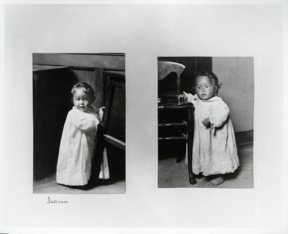 Portrait of Isamu Noguchi as a child in California