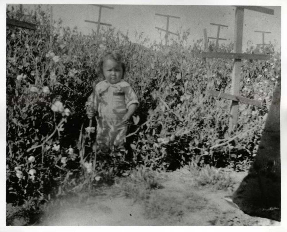 Isamu Noguchi as a child in California