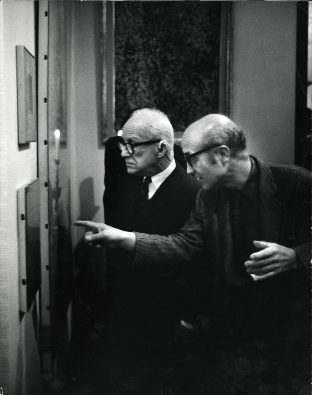 Isamu Noguchi with Buckminster Fuller