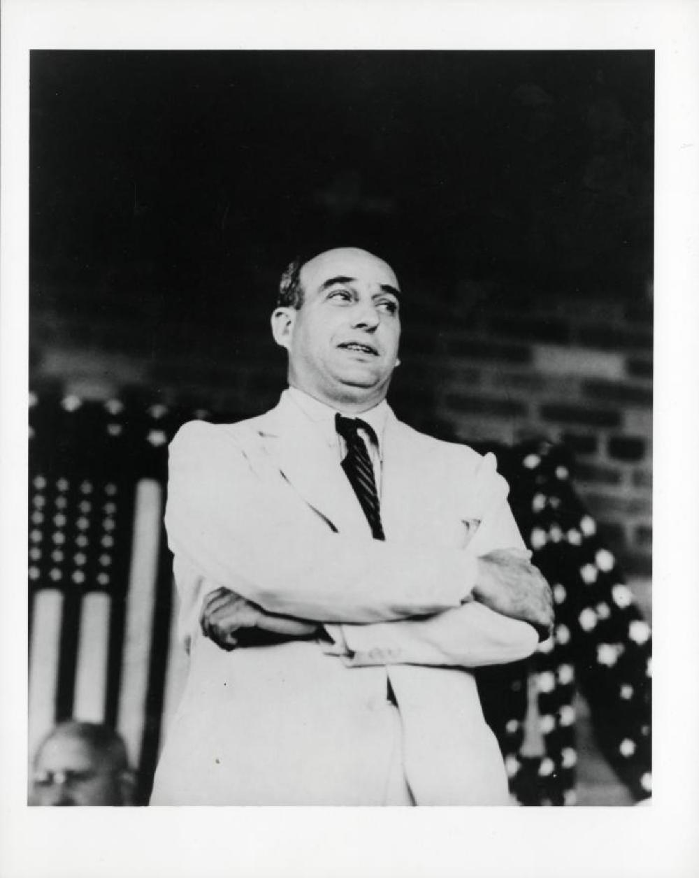 Robert Moses at the dedication of the McWhinney plaque