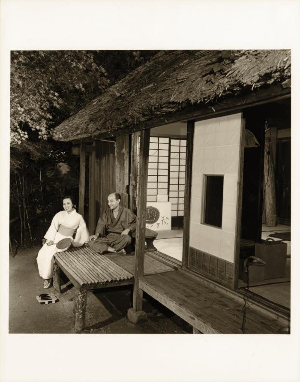 Yoshiko Yamaguchi and Isamu Noguchi at their home in Kita-Kamakura, Japan