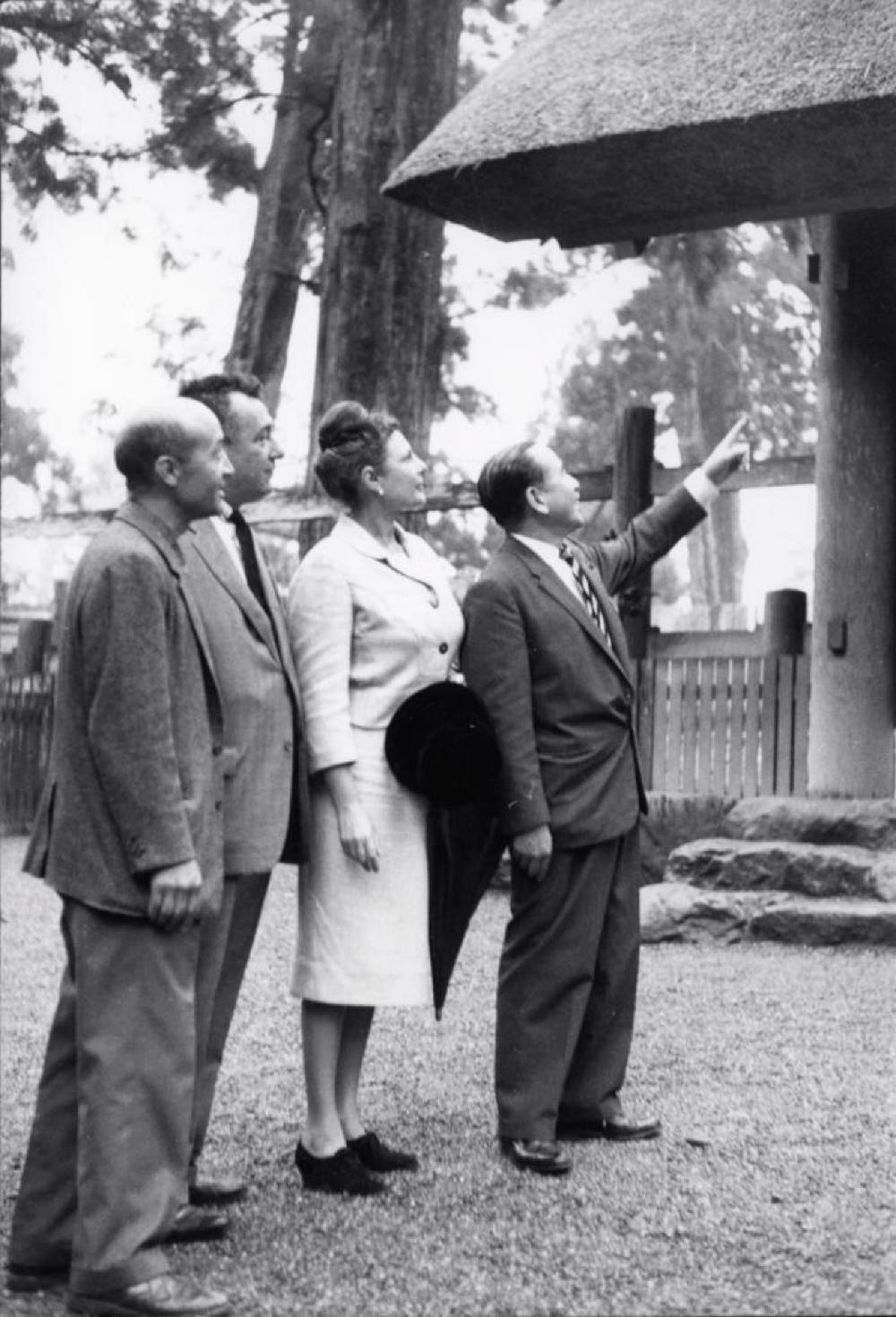 Isamu Noguchi with Nina & Gordon Bunshaft in Japan