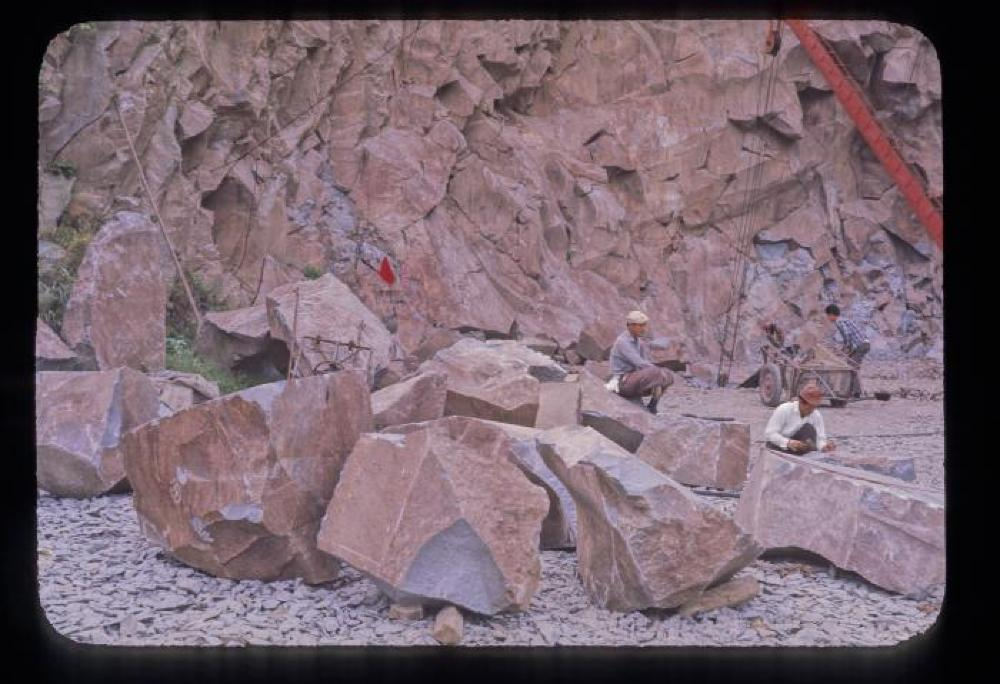 Stone Hunting in a Quarry, Japan