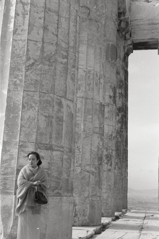 """Yoshiko """"Shirley"""" Yamaguchi at the Parthenon, Acropolis, Athens, Greece"""