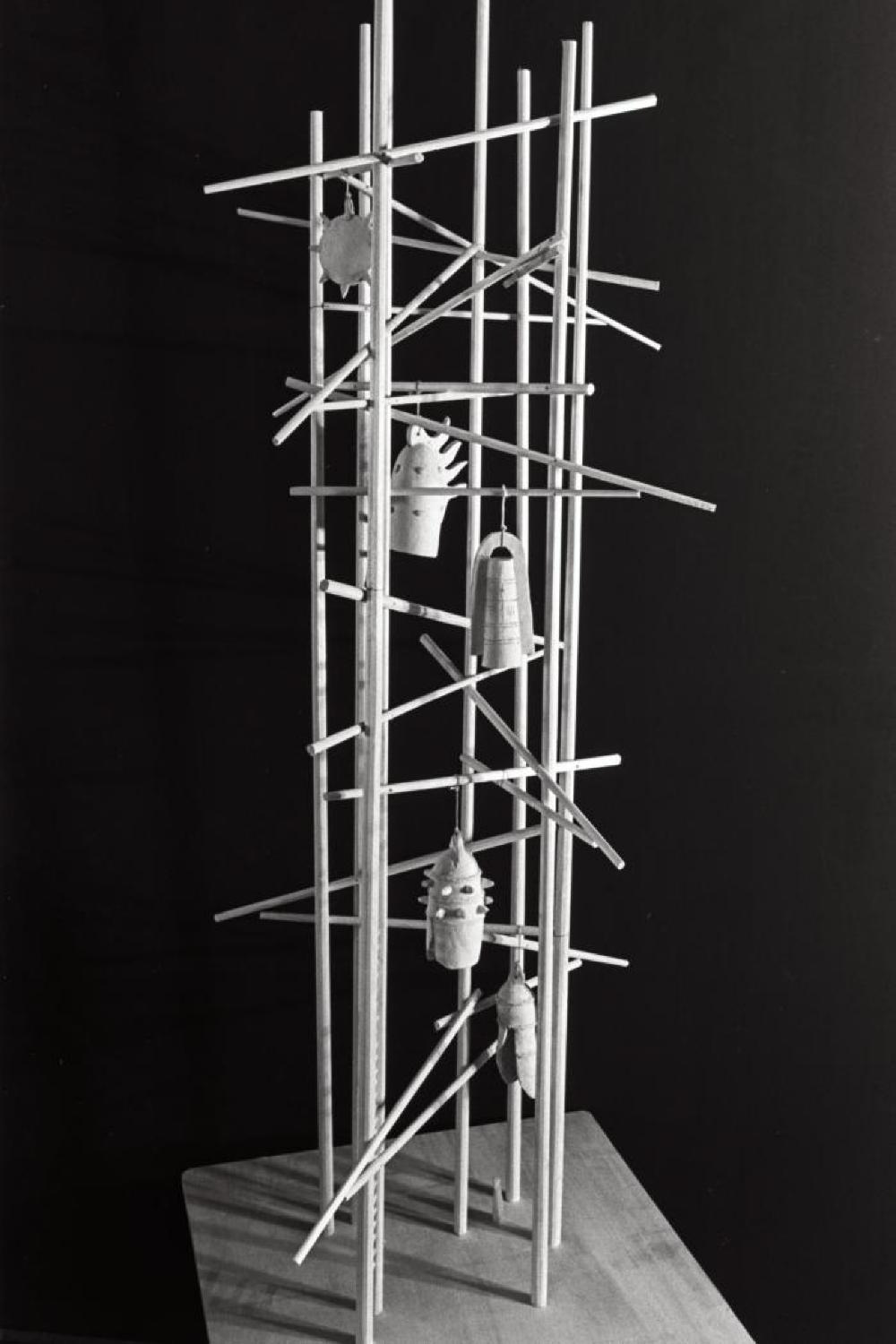 Mitsukoshi Department Store exhibition; Model for Bell Tower for Hiroshima, 1950