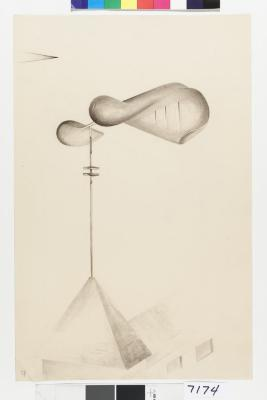 """Study for """"Musical Weathervane,"""" 1933"""