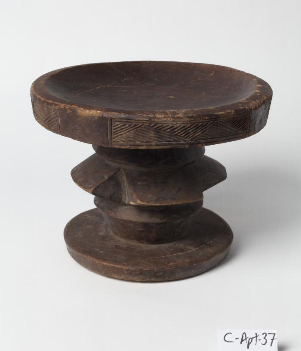 Lega (Democratic Republic of the Congo); Stool; Wood; 7 3/8 x 9 5/8 in. diameter; Collection of Isamu Noguchi. (Study Collection; Collectibles, C-Apt-37)