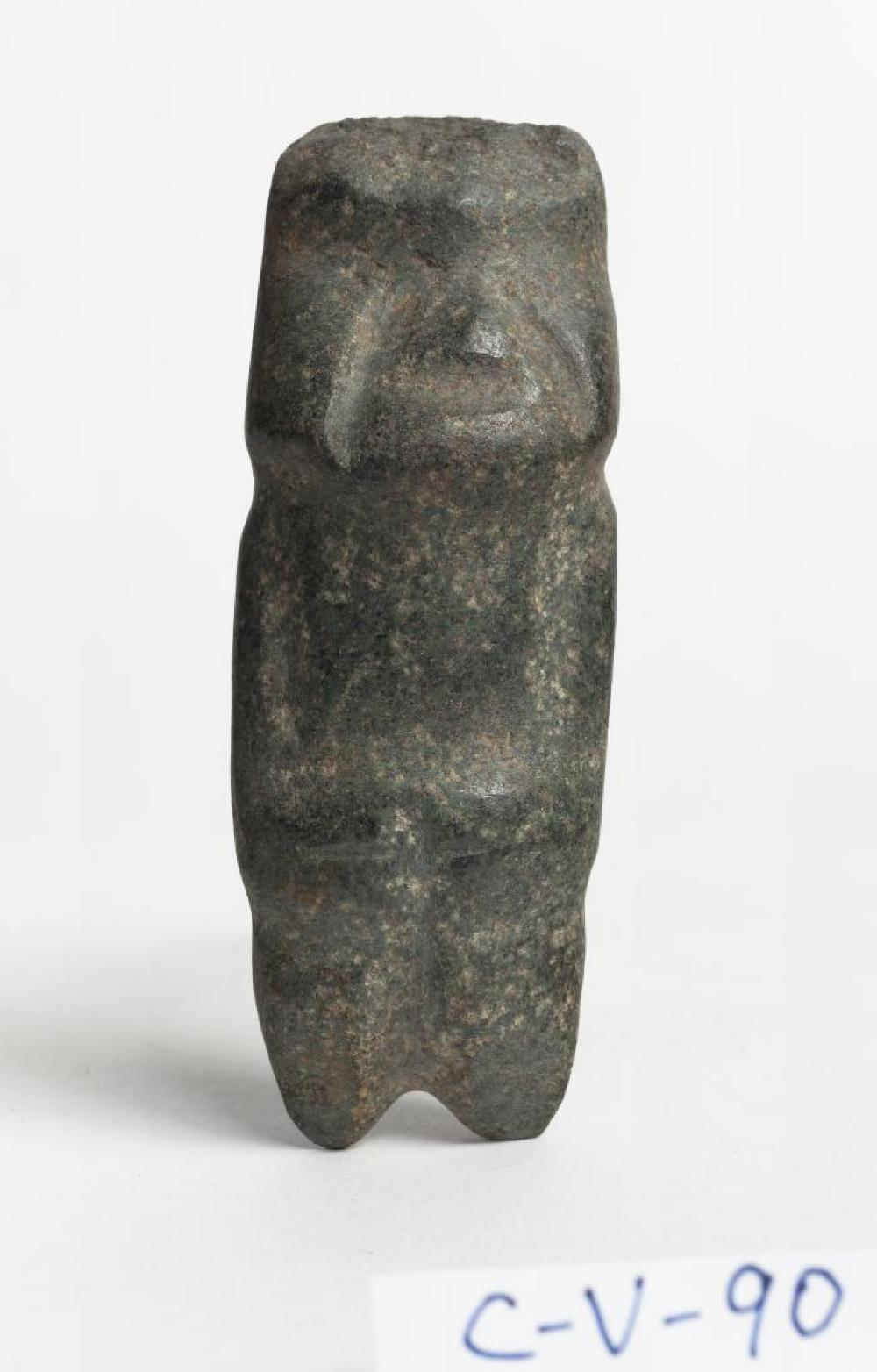 Mezcala (Mexico); Figure; Pre-Columbian, 300—100 BCE; Stone; 4 3/4 x 1 1/2 x 1 1/4 in.; Collection of Isamu Noguchi. (Study Collection; Collectibles, C-V-90)