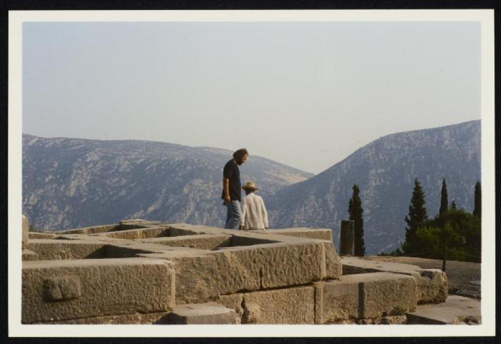 Isamu Noguchi and Nikos Kouroussis in Greece